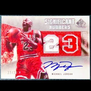 Michael Jordan Autographed Card RP